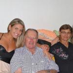 Regina Dametto com os avós: José Dametto e Maria Anália Gasparini Dametto.