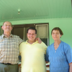 José e Maria Anália Dametto com sobrinho.