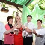 Casamento de Andrigo Dametto e Karin Alma Kronbauer. Pais de Karin, Karin e Andrigo, Santinha e José Antônio Dametto.