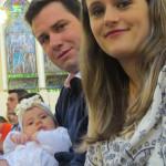 Jovani Dametto e Cláudia Rockenbach com Cecília, nascida no dia 12/01/2016.