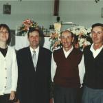 Lourdes Terezinha, Domingos Angelo, Getúlio e Raimundo Atílio Steffani - neta e netos de Magdalena Dametto e Angelo Steffani.