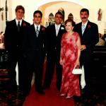 Casamento de Marcelo Dametto no dia 03/03/2006: Gustavo, Eduardo, Marcelo, Deliza e Lírio Dametto.