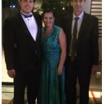 Marco Aurelio Dametto com os pais: Ivaldo Dametto e Rozana Matoso.