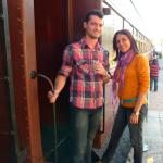 Marcos Dametto e Clemar da Silva Dametto (mãe) em Nova Petrópolis - RS.