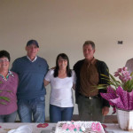 Maria, Ildo, Cecília, Silvestre e Darci Dametto, aniversário de Cecília (*02/05/1954).