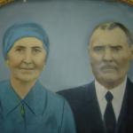 Maria Simon e José Dametto. Retrato pintado sobre fotografia, hoje de familiares de Antonio e Amélia Teló Dametto.