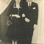 Maria Santina e Adelino Dametto, padrinhos de casamento de Nelcindo e Teresinha Bertotto.