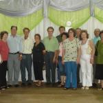 Família Roberto Dametto reunida no Jubileu de Prata do Pe. Miguel Dametto, dia 10/02/2007.