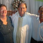 Pe. Miguel Dametto entre sua irmã Lourdes Maria e cunhado Gervasio Andreolli.
