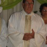 Missa do Jubileu de Prata do Pe. Miguel Carlos Dametto, no salão comunitário da Capela Santo Antônio. Linha Quarta, Anta Gorda - RS.