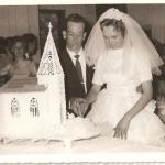 Nelson Adelino Baseggio e Décia Spagnol. Casamento no dia 27/01/1962.
