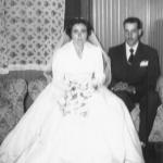 Nilda Dametto e Armando Carissimi. Casamento no dia 22/01/1958.