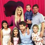 Família de Odacir Antônio Dametto. Na frente: Raissa, Manuela, Renato e Maria Eduarda. Atrás: Regina, Leonardo (no colo) e Rodrigo.