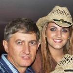 Odacir Antônio Dametto e filha Regina.