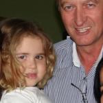 Odacir Antônio Dametto e filha (com Mary Oliveira), Maria Eduarda Oliveira Dametto.