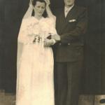 Ida Domingas Zanatta e Olívio Silvestre Dametto, casamento em 20/04/1938.
