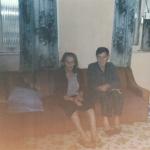 Olívio Silvestre e Ida Domingas Dametto na casa onde moraram os últimos anos de vida, em Tapejara - RS.
