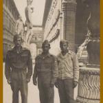 Olívio Steffani (primeiro à esquerda), pracinha na Itália.