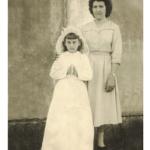 Olga Terezinha e madrinha Ana Antônia Dametto (filha de Elias Dametto).
