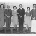 Orélia Dametto e Gregório de Biasi com padrinhos de casamento. Primeiro casal: Rosa Dametto e Amadeu Lizzotti.