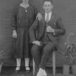 Orsolina Parisotto Dametto e Roberto Angelo Dametto, casados no dia 09/02/1929 em Anta Gorda, RS.