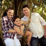 Paola, Lívia e Jovani Dametto, netas e neto de Jaime Fidélis Dametto e Ana Maria Andreolli.