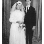 Pascoalina Dametto e David Zanchetti, casamento no dia 20/07/1968.