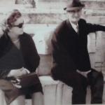 Dozolina Caselani e Pedro Dametto em Roma.