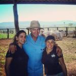 Odacir Antônio Dametto com a filha Regina e a segunda esposa, Mary Oliveira.