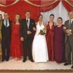Família de Maria Terezinha Dametto e Pedro Roling: Cassiana, Roberto, Clarice, casal Ricardo Roling e Jussara de Oliveira, Liciane, Maria Terezinha Dametto e Pedro Roling.