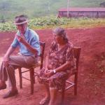 Roberto e Orsolina Dametto, em 1977, quando se fixaram em Ouro Verde, Medianeira, Pr.