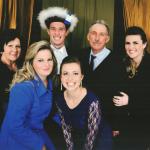 Família de Sadi Divino Dametto na formatura do filho Mateus: Nair (mãe), Márcia e Daniela; Mateus, Sadi (pai) e Adriana Dametto.