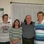 Severino Dametto, com o filho Moisés, a nora Ivani Maria Bortolini e o neto Daniel Dametto.