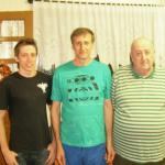 Severino Dametto com o filho Moisés e o neto Daniel Dametto.