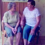 Carmelinda Parisotto Dametto e Maria Emília Teló Dametto, janeiro de 2005.