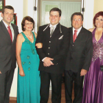 Família Tranquilo Dametto: Anderson, Therezinha Luvison, Charles, Tranquilo e Fernanda, no dia do casamento de Charles Dametto com Daniela Girelli.