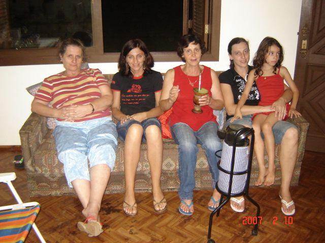 Maria T. Dametto, Mirna Stello, Nilde Lodi, Mariza Stello e Érica Stello Hilga.