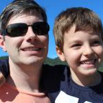 Jairo Gustavo Dametto e filho Augusto Sbeghen Dametto
