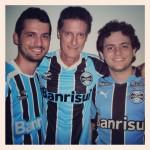 Clovis Dametto com os filhos Marcos e Luciano Dametto.
