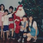Netas e netos de Danilo e Corona Dametto – Natal de 1996 – Tapejara – RS.