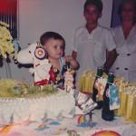 Marcos Dametto (*12/05/1986), filho de Clovis Dametto e Clemar da Silva Dametto – Primeiro aniversário.
