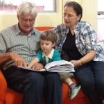 Telmo Dametto e Amélia Maria Scariot Dametto com o neto Augusto Sbeghen Dametto.