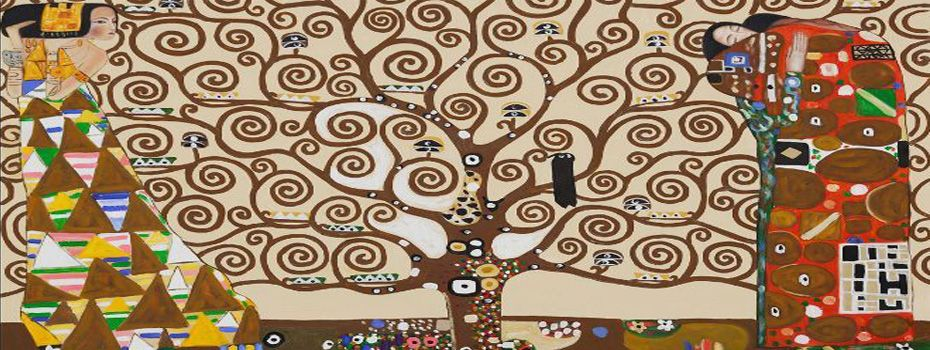 Árvore da vida, de Gustav Klimt (recorte).