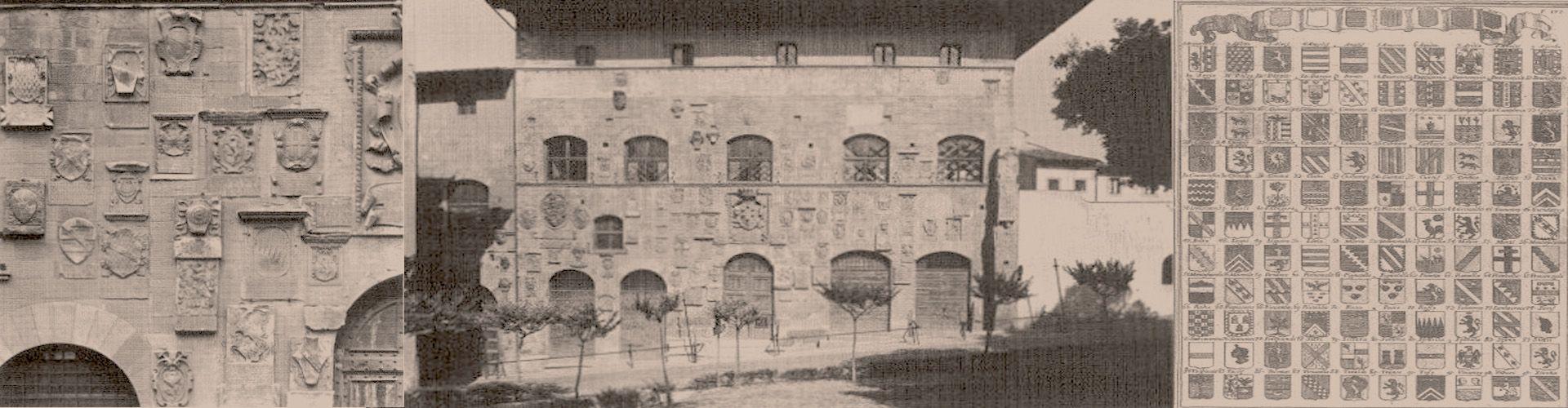 Imagens do livro Costruzione, linguaggio e lettura dello stemma, a cura di Marcello del Piazzo, págs. 520, 534 e 535.