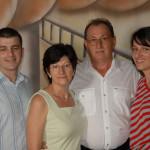 Fábio Dametto, Maria Helena Cavagnolli, Antônio  Camilo Dametto e Renata Dametto. Primeiro Encontro da Família Dametto, dia 09/02/2007.