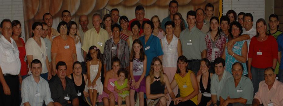 Família Elias Dametto e Tereza Cauzzi. Primeiro Encontro da Família Dametto, dia 09/02/2007.