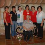 Família Oreste Dametto. Filhas: Odila, Nadir, Aida, Geni, Terezinha e Bambina. Primeiro Encontro da Família Dametto no dia 09/02/2007.