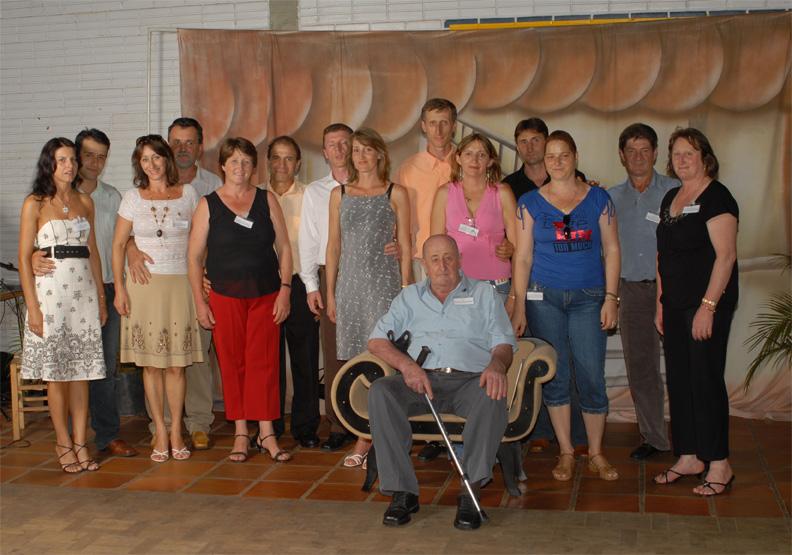 Família Severino Dametto (neto mais velho de José Dametto e Maria Simon). Primeiro Encontro da Família Dametto, dia 09/02/2007.
