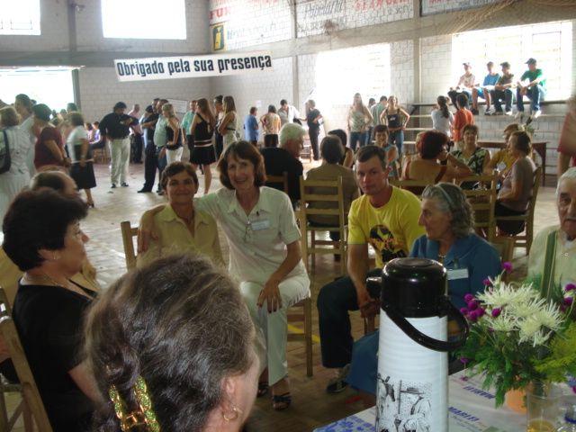 Lurdes Bocchi, Eugênia Dametto e tia Maria Slaviero Parisotto.
