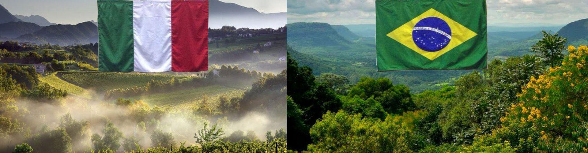 Paisagem do Vêneto e paisagem da Serra Gaúcha.